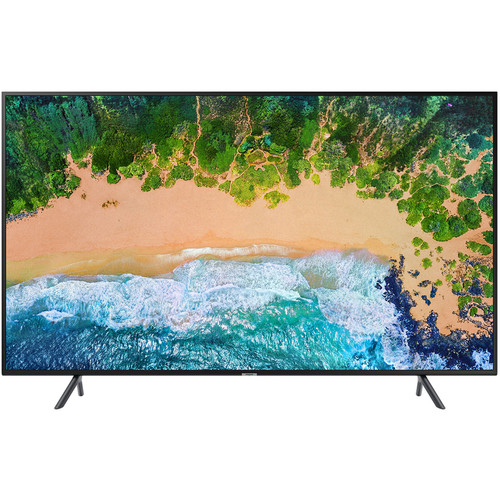 "Samsung NU7100 Series 55""-Class 4K HDR UHD Multi-System Smart LED TV"