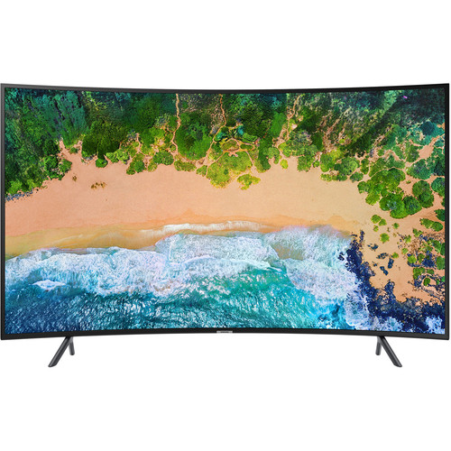 """Samsung NU7300 Series 65""""-Class HDR UHD Multi-System Smart Curved LED TV"""