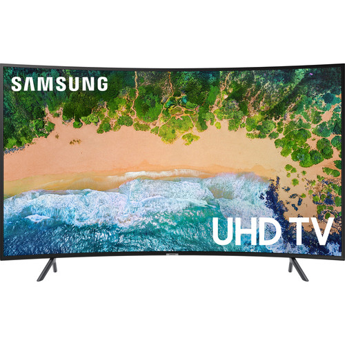 "Samsung NU7300 Series 55""-Class HDR UHD Smart Curved LED TV"