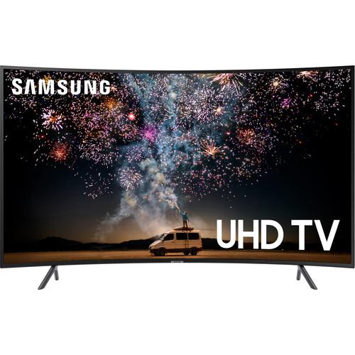 "Samsung RU7300 55"" Class HDR 4K UHD Smart Curved LED TV"