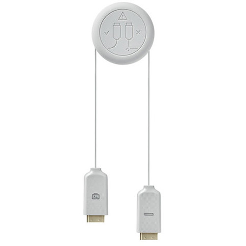 Samsung One Connect In-Wall Cable for Select QLED and Frame TVs (16.4', White)