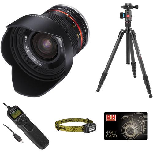 Samyang 12mm f/2 NCS CS Lens Astrophotography Kit for Sony E