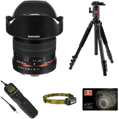 Samyang 14mm f/2.8 IF ED UMC Lens Astrophotography Kit for Canon EF