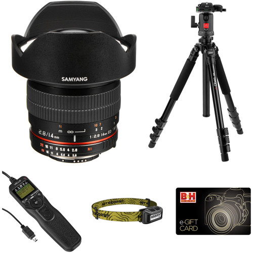 Samyang 14mm f/2.8 IF ED UMC Lens Astrophotography Kit for Nikon F