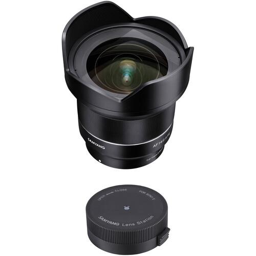 Samyang AF 14mm f/2.8 FE Lens with Lens Station Kit for Sony E