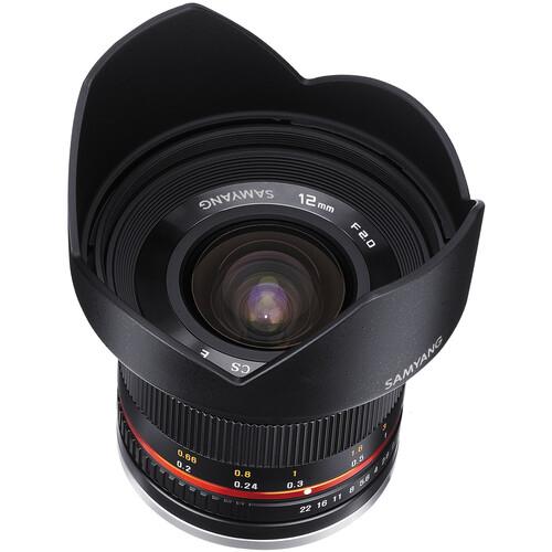 Samyang 12mm f/2.0 NCS CS Lens for Sony E-Mount (APS-C) (Black)