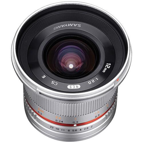 Samyang 12mm f/2.0 NCS CS Lens for Sony E-Mount (APS-C) (Silver)