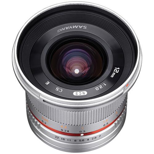 Samyang 12mm f/2.0 NCS CS Lens for Fujifilm X-Mount (Silver)