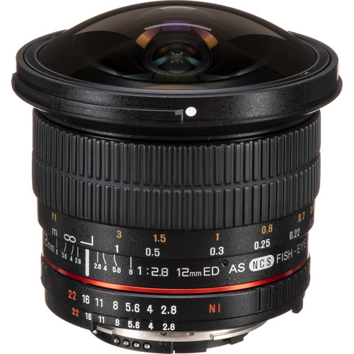 Samyang 12mm f/2.8 ED AS NCS Fisheye Lens for Nikon F Mount with AE Chip