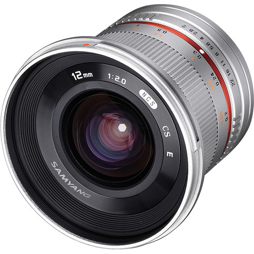 Samyang 12mm f/2.0 NCS CS Lens for Samsung NX Mount (Silver)