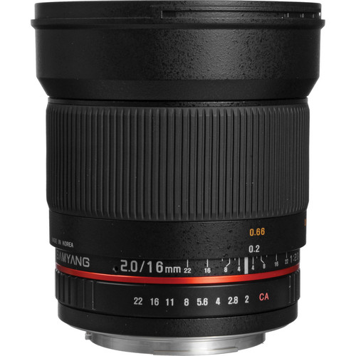 Samyang 16mm f/2.0 ED AS UMC CS Lens for Canon