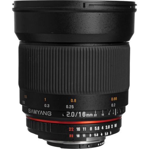 Samyang 16mm f/2.0 ED AS UMC CS Lens for Nikon