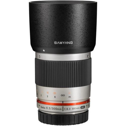 Samyang Reflex 300mm f/6.3 ED UMC CS Lens for Sony E Mount (Silver)