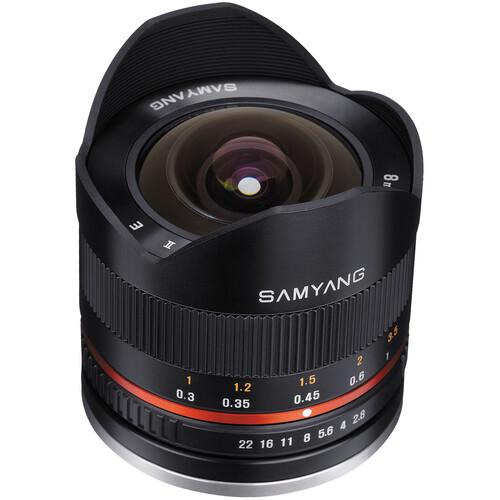 Samyang 8mm f/2.8 Fisheye II Lens for Fujifilm X Mount