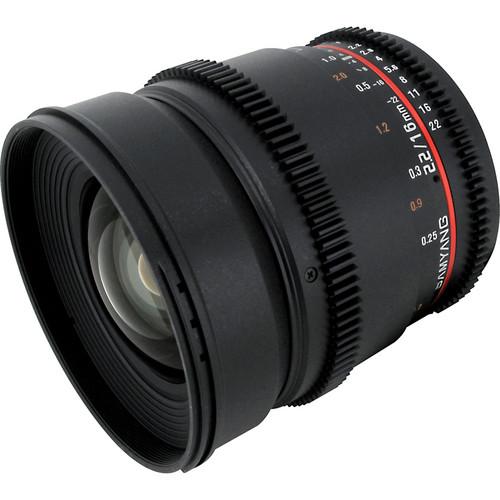 Samyang 16mm T2.2 Cine Lens for Canon EF