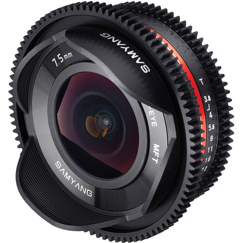 Samyang 7.5mm T3.8 Cine UMC Fisheye Lens for Micro Four Thirds Mount