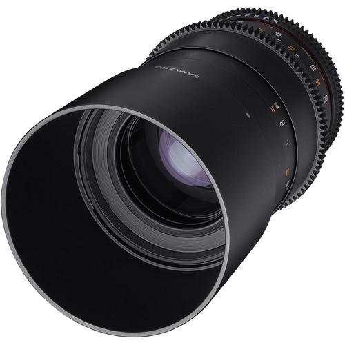Samyang 100mm T3.1 VDSLRII Cine Lens for Canon EF Mount with Macro