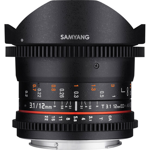 Samyang 12mm T3.1 VDSLR Cine Fisheye Lens for Nikon F Mount