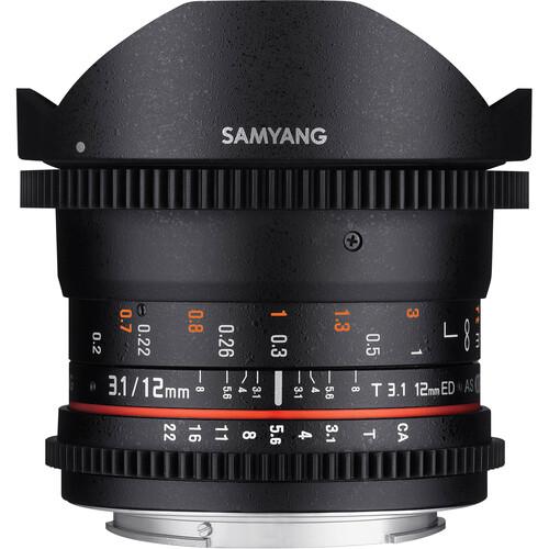 Samyang 12mm T3.1 VDSLR Cine Fisheye Lens for Pentax K Mount