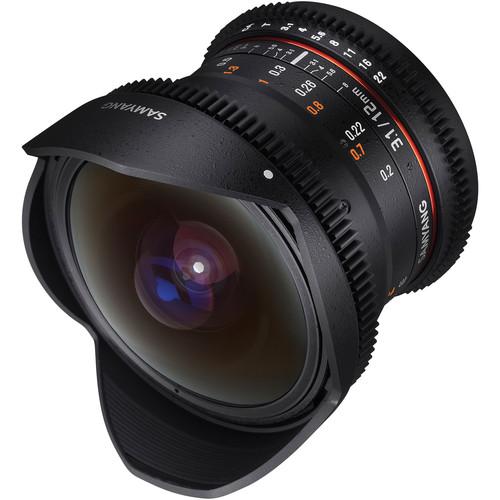 Samyang 12mm T3.1 VDSLR Cine Fisheye Lens for Sony A-Mount