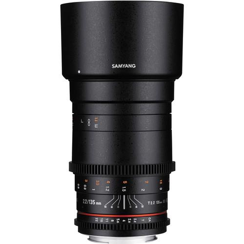 Samyang 135mm T2.2 AS UMC VDSLR II Lens for Micro Four Thirds Mount