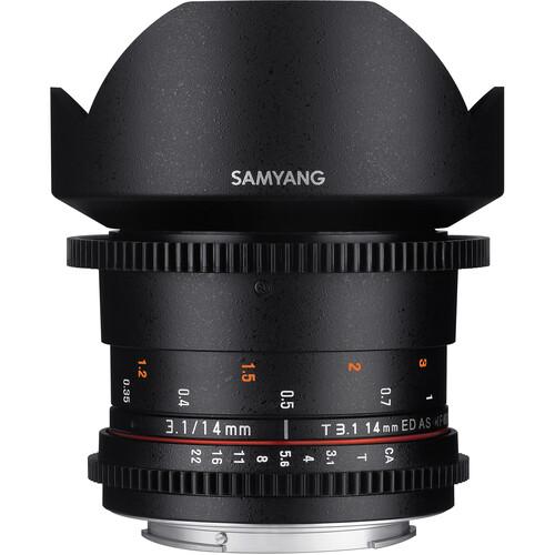 Samyang 14mm T3.1 VDSLRII Cine Lens for Canon EF Mount