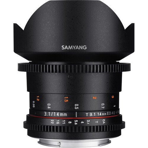 Samyang 14mm T3.1 VDSLRII Cine Lens for Canon EF Mount