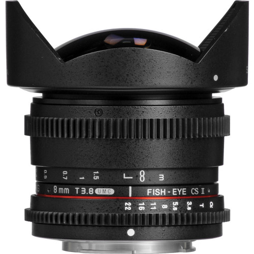 Samyang 8mm T3.8 UMC Fish-Eye CS II Lens (Sony A Mount)