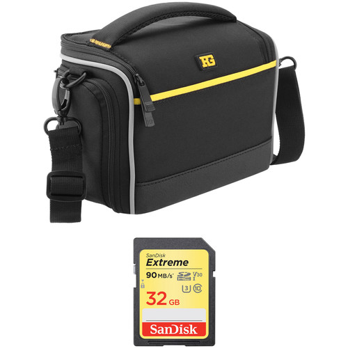 SanDisk 32GB Extreme UHS-I SDHC Memory Card Kit with Ruggard Commando 15 Shoulder Bag Kit
