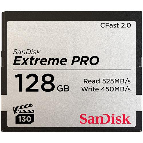 SanDisk 128GB Extreme PRO CFast 2.0 Memory Card (Canon & Blackmagic Cameras)
