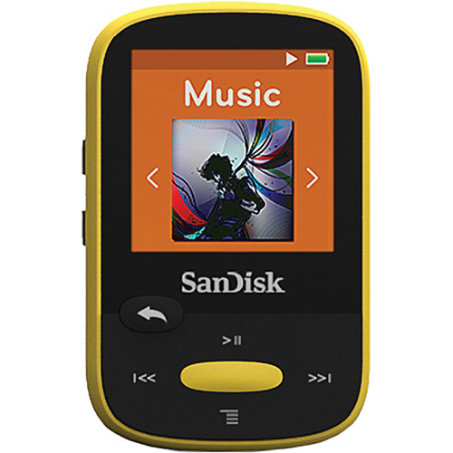 SanDisk 4GB Clip Sport MP3 Player (Yellow)
