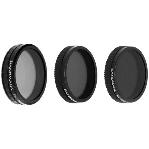 SANDMARC Aerial Filter Set for DJI Phantom 4 & 3 Professional / Advanced (3-Pack)