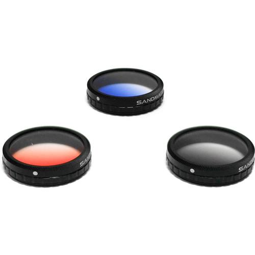 SANDMARC Graduated Filter Set for DJI Phantom 4 & 3 Professional / Advanced (3-Pack)