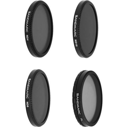 SANDMARC Aerial Filter Set for DJI Inspire 1 / Osmo (4-Pack)