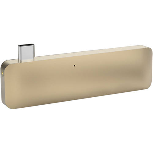 Sanho HyperDrive USB Type-C 5-in-1 Hub with Pass Through Charging (Gold)
