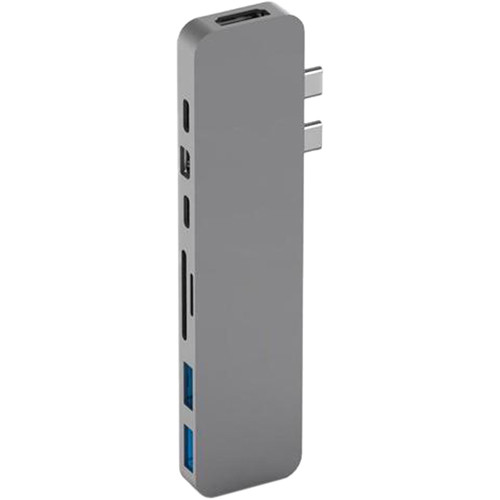 HYPER HyperDrive PRO 8-in-2 USB Type-C Hub for MacBook Pro & Air Laptops (Space Gray)