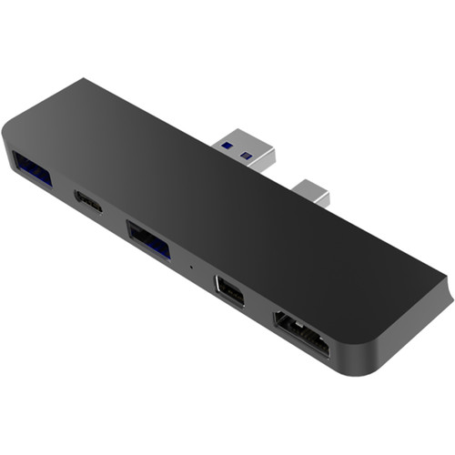 Sanho HyperDrive 5-in-2 USB Type-A and Mini DisplayPort Hub for Microsoft Surface Pro (Black)