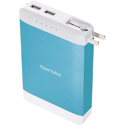 Sanho HyperJuice 15,600mAh Dual USB Battery Pack with Stealth Plug (Blue)