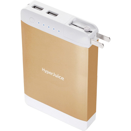 Sanho HyperJuice 15,600mAh Dual USB Battery Pack with Stealth Plug (Gold)