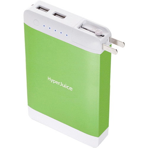 Sanho HyperJuice 15,600mAh Dual USB Battery Pack with Stealth Plug (Green)