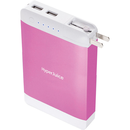 Sanho HyperJuice 15,600mAh Dual USB Battery Pack with Stealth Plug (Pink)