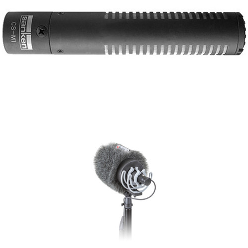Sanken CS-M1 Moisture-Resistant Ultracompact Shotgun Microphone Kit with Rycote Shockmount and Windshield