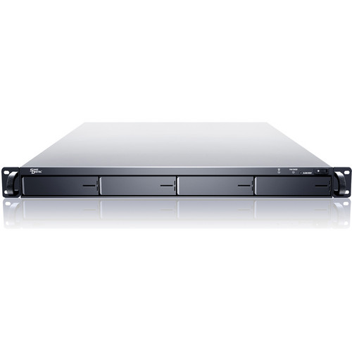 Sans Digital EliteNAS EN104L+XE 1U 4-Bay NAS + iSCSI Rackmount Server (Black)