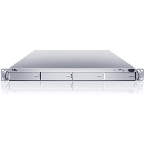 Sans Digital EliteNAS 1U 4-Bay 64-Bit NAS + iSCSI with Redundant Server (Silver)