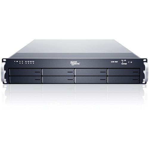 Sans Digital EliteNAS EN208L+BXE 2U 8-Bay 64-Bit NAS Hybrid Storage Rackmount