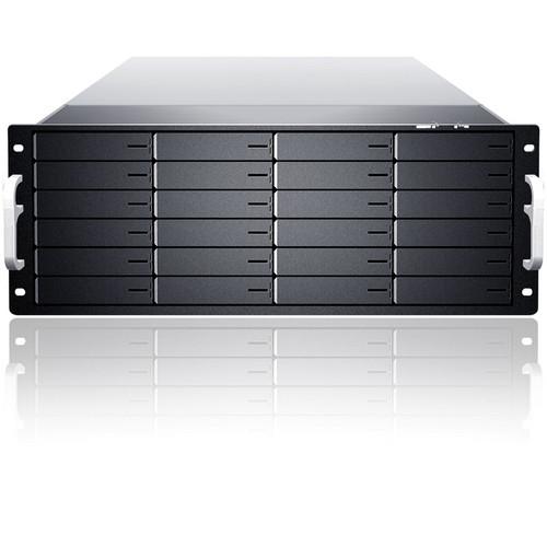 Sans Digital EliteNAS EN424L+BXE 4U 24-Bay NAS + iSCSI + FC Target Enclosure (Black)