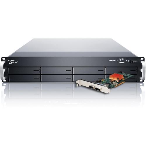 Sans Digital EliteSTOR 2U 8-Bay 6G SAS/SATA PCIe 2.0 x8 RAID Rackmount Chassis