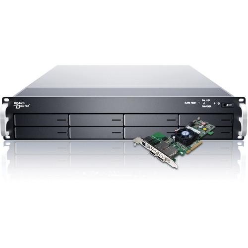 Sans Digital EliteSTOR ES208X6+BHP 8-Bay 6G SAS/SATA PCIe Rackmount RAID Chassis