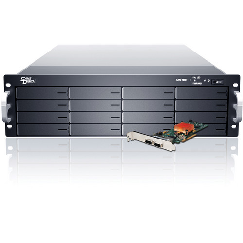 Sans Digital EliteSTOR ES316X6+BHG 3U 16-Bay PCIe 2.0 x8 RAID Rackmount Chassis