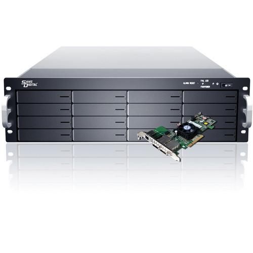 Sans Digital EliteSTOR ES316X6+BSHP 16-Bay 6G SAS/SATA RAID PCIe 2.0 x8 Rackmount